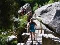 Passerelle au niveau de la cascade