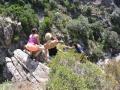Perchés au-dessus du canyon, ça hésite