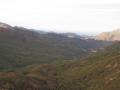 Bastelica et au loin le golfe d'Ajaccio
