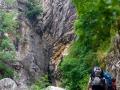 A l'entrée du canyon de la Richiusa