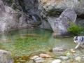 Vasque de sortie du canyon