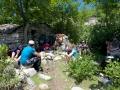 Pause déjeuner dans bergeries abandonnées